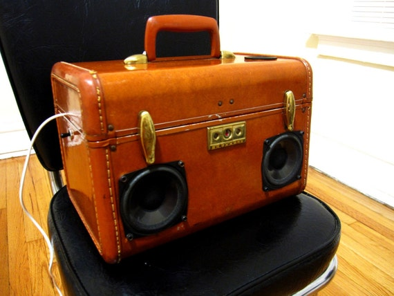Vintage Samsonite Suitcase Stereo BoomBox