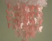 Butterfly Baby Mobile, Pink Shimmer Butterfly Mobile, Nursery Mobile, Butterfly Nursery Decor, Crib Mobile, Butterfly Nursery