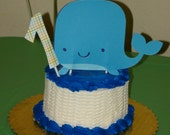 Nautical First BirthdayBaby Shower FWhale Ocean Themed  Cake Topper Ocean Birthday Whale Birthday