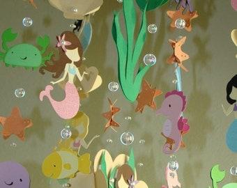 Mermaid Sea Creature Ocean themed baby mobile