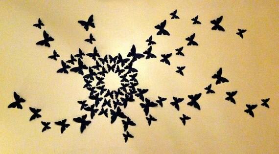 3D Paper Butterfly, Wall Art, 3D Butterflies, Nursery Wall Art, Butterfly  Decal