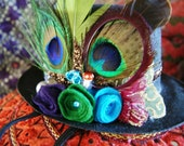 Eyes of the World .  New Years Eve Party Top Hat . One of a Kind