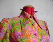 Vintage 70s psychadelic blouse