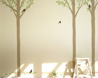 Baby Nursery Wall Decals - Summer Tree Wall Stickers for Modern Space - 0047