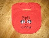 Race Car Themed Baby Bib