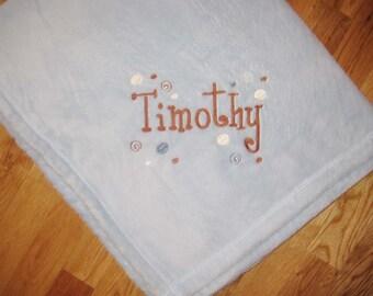 Embroidered Fleece Baby Blanket
