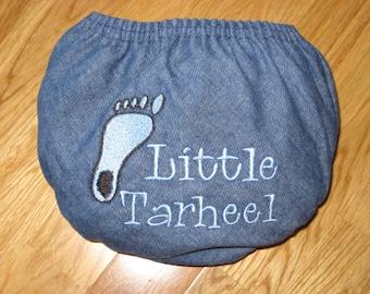 UNC Little Tarheel Denim Diaper Cover