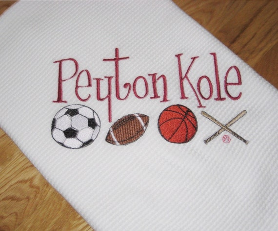 Personalized Sports Receiving Blanket