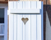 Love - Blue Heart Window, France Country Photo - 8 x 8 - Fine Art Photography print - French Shabby Chic  home decor Blue wall art