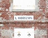 French Decor L'Horizon (The Horizon) - Brick house Photo France - 8 x 8 - Fine Art Photography print - Wall Art Home decor