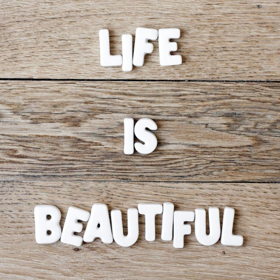 Life is beautiful (wood floor) - 8 x 8 - Fine Art Photography print - Home decor Brown Wood Wall art Photo decor Decor8 Inspirational Mantra