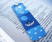 Bookmark - Space travel in blue