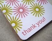 Handmade Thank you cards with envelopes - set of 4
