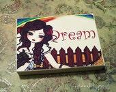 Wood Art Block ACEO Wizard of Oz Fairy Fantasy Art Card ATC Mini