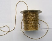 5 meters Gold Sparkle Faux Beaded Ribbon by Mokuba for Costume, Fashion or Jewelery Design