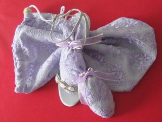 Lacy Lavender ShooBag/Shoesies Sachets Set