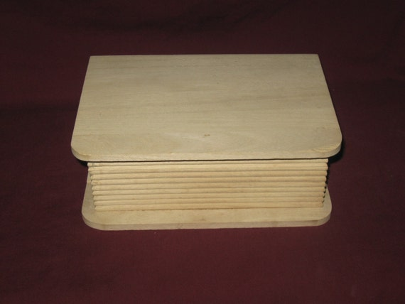 Unfinished Wood Pine Book Box Hinged