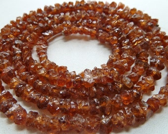 Hessonite Garnet Gemstone Nugget Chips - 2mm to 3mm  - Gorgeous Sparkling Root Beer Color - High Quality - Qty 12 pcs