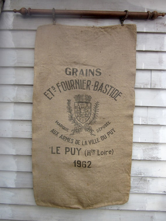 Reserved Listing   30% OFF:  Rare Le Puy Vintage French Grain Sack