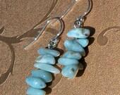 Natural Larimar Earrings