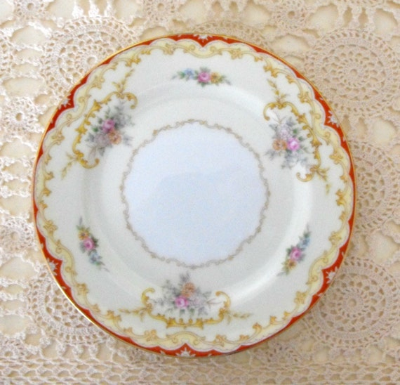 1930s  Bread and Butter or Dessert Plate  by Noritake China  in Oradell Pattern