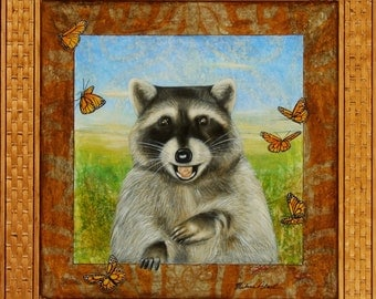 Brother Raccoon - Art Print 11 x 14