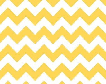 Yellow and White Chevron Cotton for Riley Blake, 1 Yard