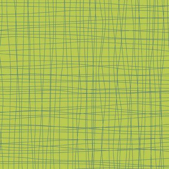 Early Bird By Cosmo Cricket, Crosshatch in Green, 1 Yard