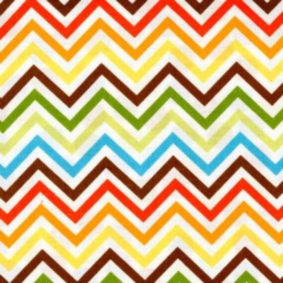 Remix By Ann Kelle for Robert Kaufman Zig Zag in Bermuda Multi Color, 1 Yard