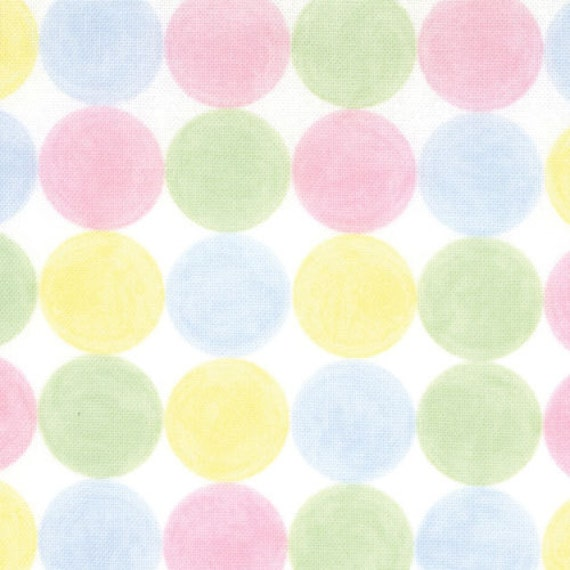 Baby Pastel Circle Flannel, Love U By Deb Strain for Moda, Tic Tac in Pastel Flannel, 1 Yard
