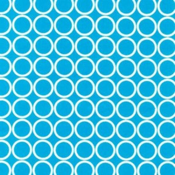 Robert Kaufman Metro Living Circles in Turquoise, 1 Yard
