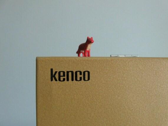 reserved .... 60s vintage industrial metal slide case by Kenco, complete with slides