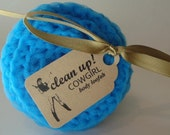 clean-up cowgirl body loofah and exfoliater - turquoise