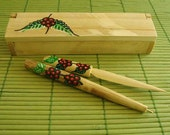 MEXICAN COFFEE WOOD PEN SET