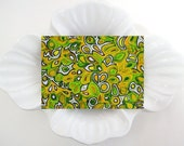 Green Yellow ACEO Original Abstract Zen Doodle Artist Trading Card