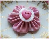 Sweetheart - Pink Flower Brooch