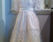 Assorted Lace and silk Vintage inspired Dress First Communion or Flower Girl, sizes 7-12