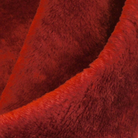 FABRIC4 FAKE FUR Rust Medium Pile Teddy Bear Fleece 61 x 14 9-oz
