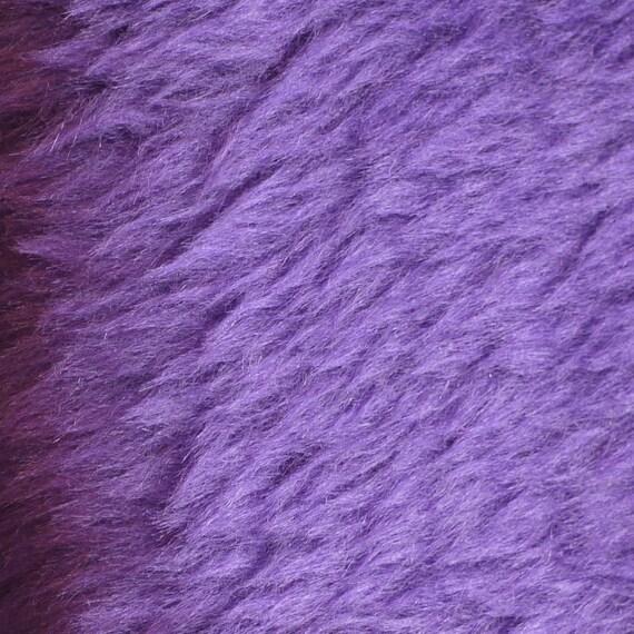 FABRIC4 FAKE FUR Purple Medium Pile 43 x 8.5 11-oz