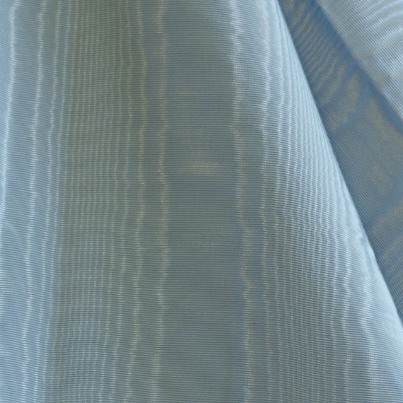 FABRIC3 Vintage UPHOLSTERY Polyester MOIRE Baby Blue 49 x 52 13-oz