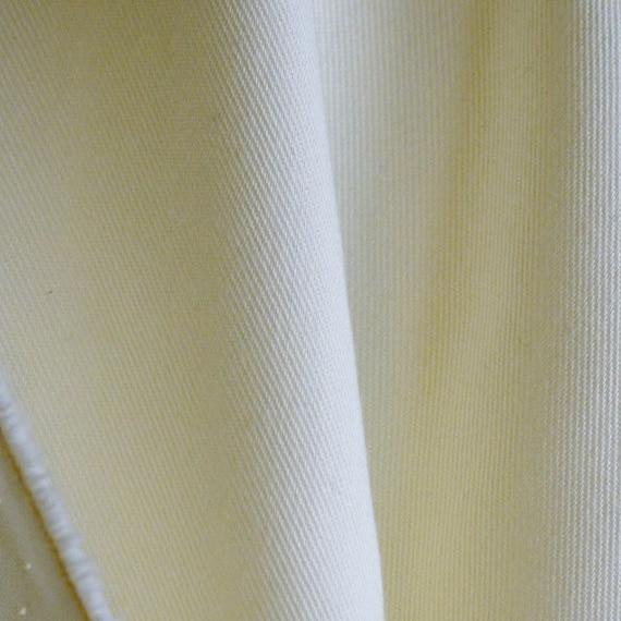 FABRIC1 COTTON Blend GABARDINE Solid Sweet Cream 64 x 160 3.13-lb