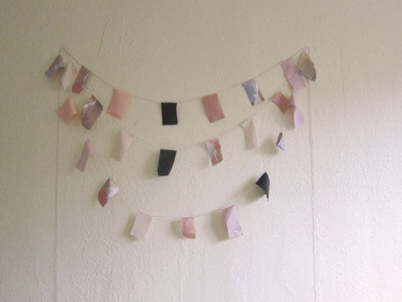 sweet apeach square bunting banner