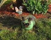 Metal Garden Pig