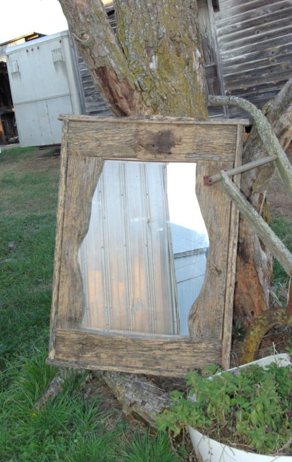 Rustic mirror designed by A Horse Of Course.
