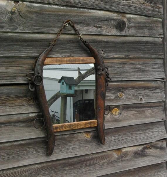 Rustic horse hames mirror
