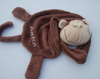 Monkey Cuddle Buddy Personalized First Name