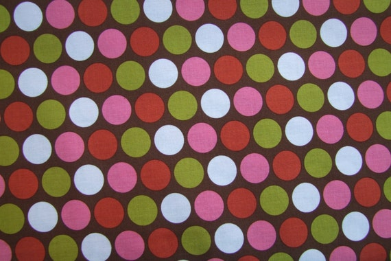 Sale Indian Summer - Zoe Pearn - Riley Blake 1 Yard Brown Big Dot
