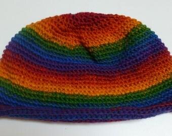 Rainbow Crocheted Hat