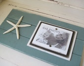 Dusty Turquoise Long Plank Frame with Starfish