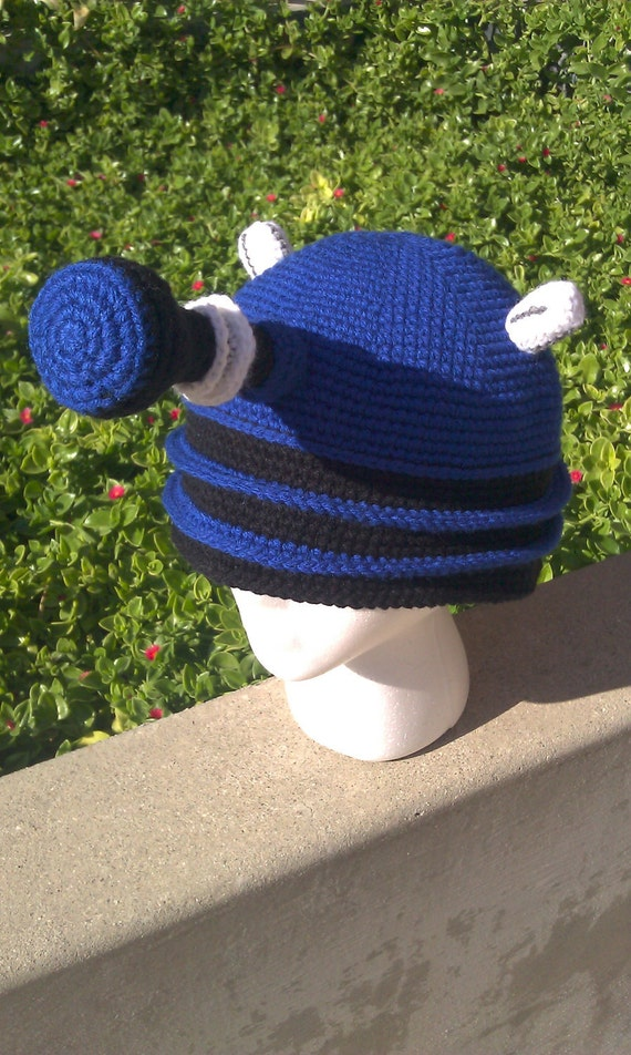 Dalek Hat BLUE--Inspired by Doctor Who